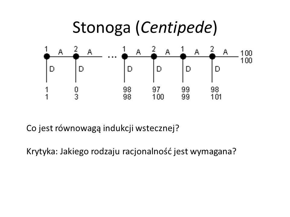 Stonoga (Centipede) Co jest równowagą indukcji wstecznej