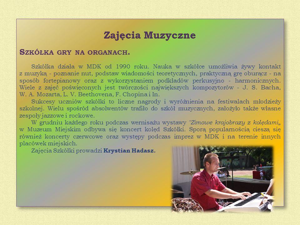 Zajęcia Muzyczne Szkółka gry na organach.