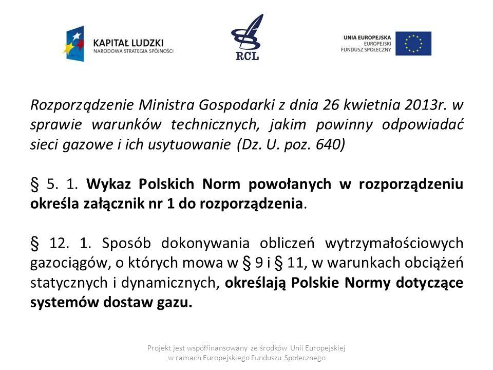 Rozporządzenie Ministra Gospodarki z dnia 26 kwietnia 2013r