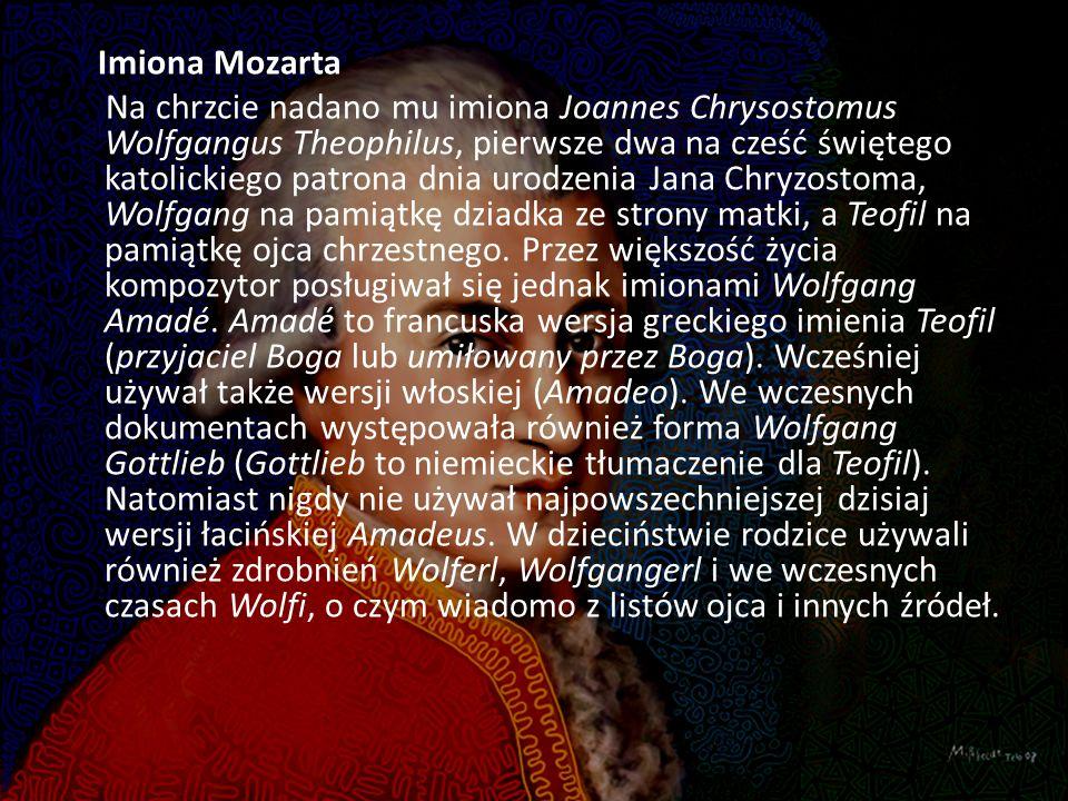 Imiona Mozarta