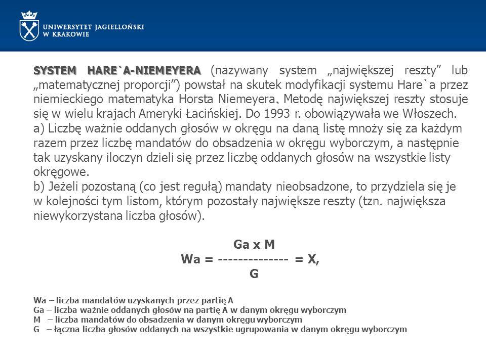 Ga x M Wa = -------------- = X, G