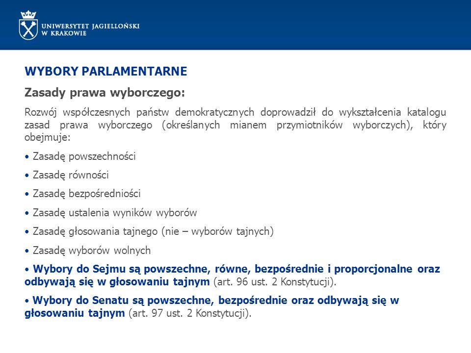 Zasady prawa wyborczego: