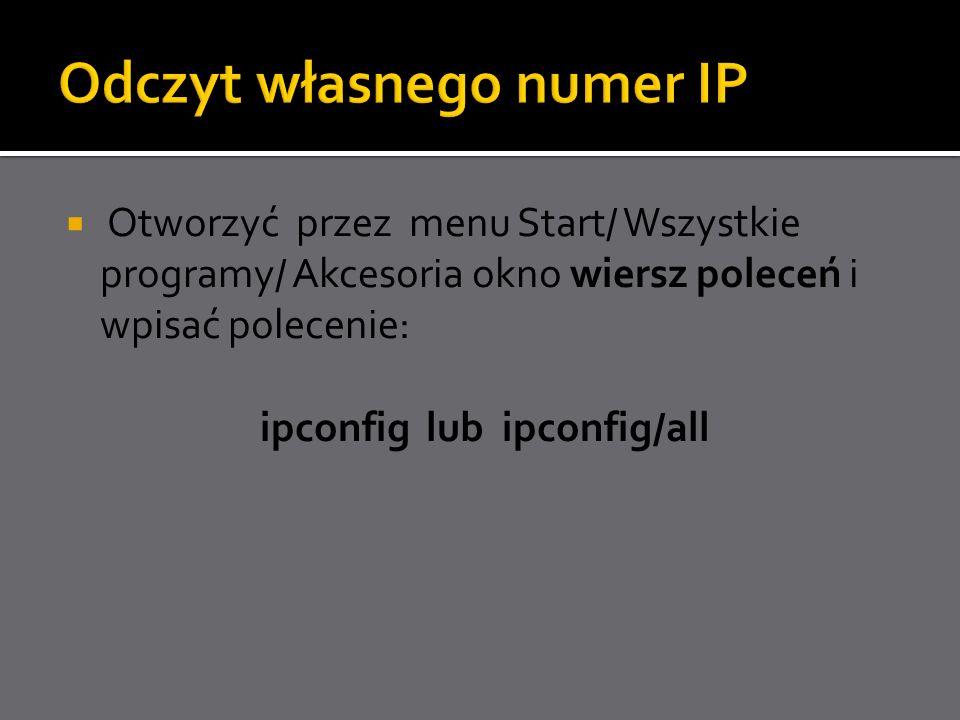 Odczyt własnego numer IP