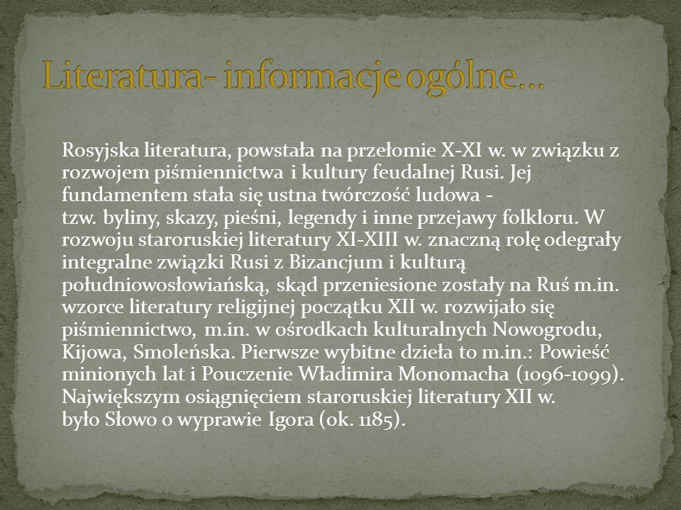 Literatura- informacje ogólne…