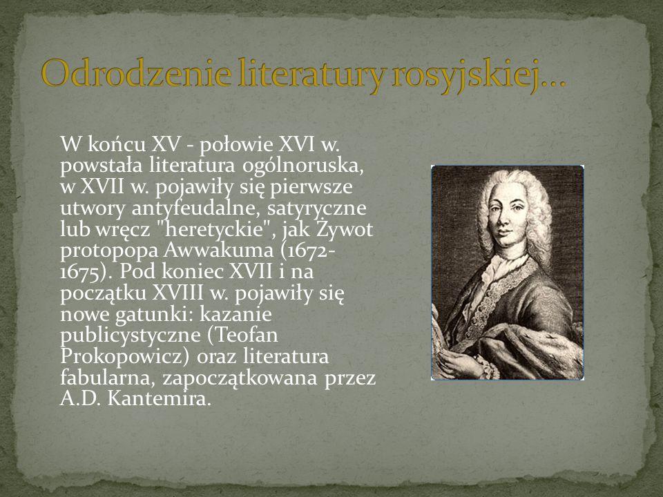Odrodzenie literatury rosyjskiej…
