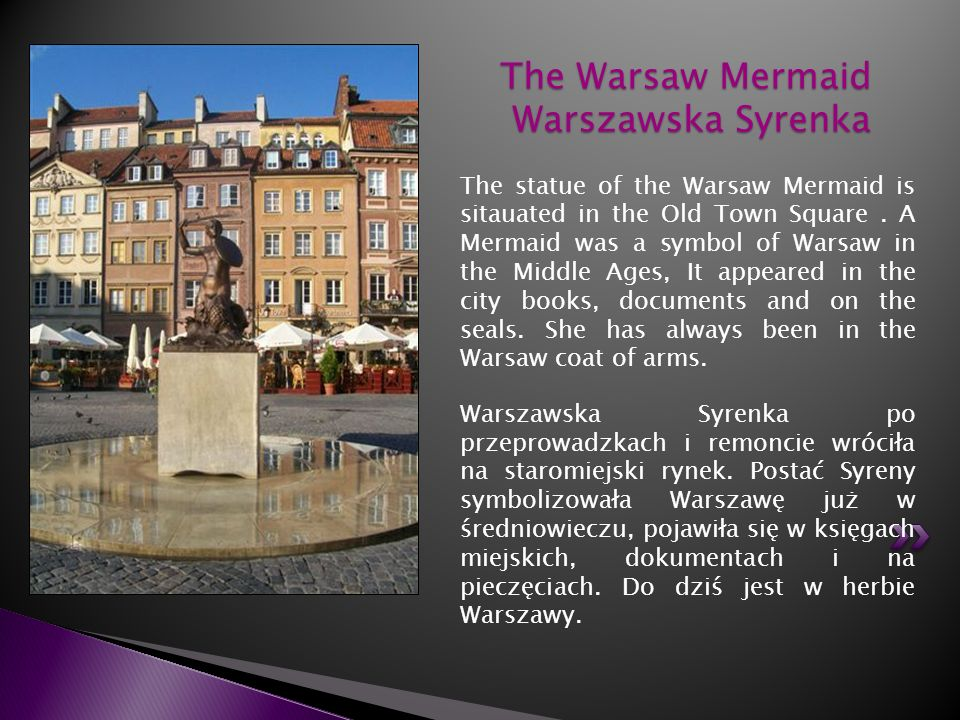 The Warsaw Mermaid Warszawska Syrenka