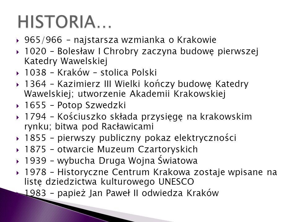 HISTORIA… 965/966 – najstarsza wzmianka o Krakowie