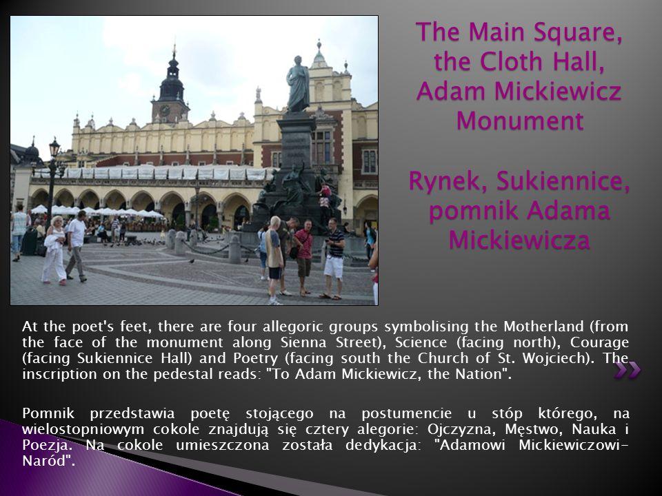 The Main Square, the Cloth Hall, Adam Mickiewicz Monument Rynek, Sukiennice, pomnik Adama Mickiewicza