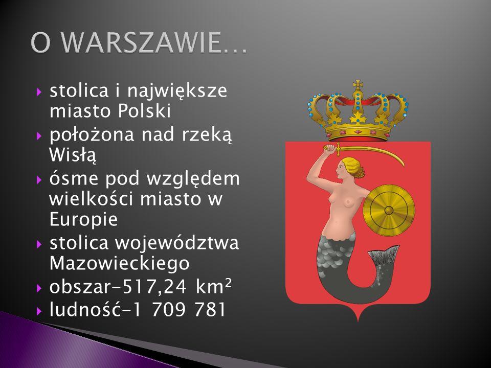 O WARSZAWIE… stolica i największe miasto Polski