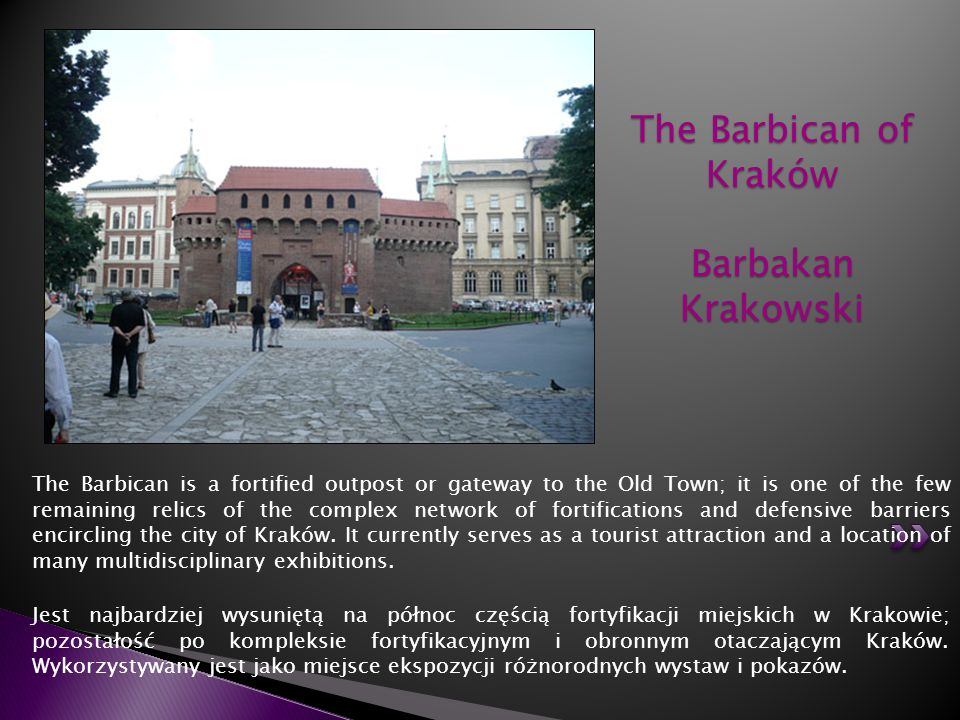 The Barbican of Kraków Barbakan Krakowski