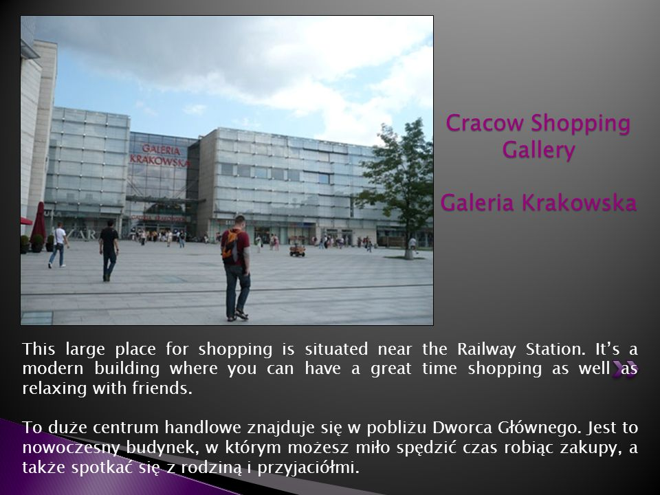 Cracow Shopping Gallery Galeria Krakowska
