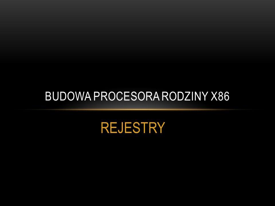 Budowa procesora rodziny x86