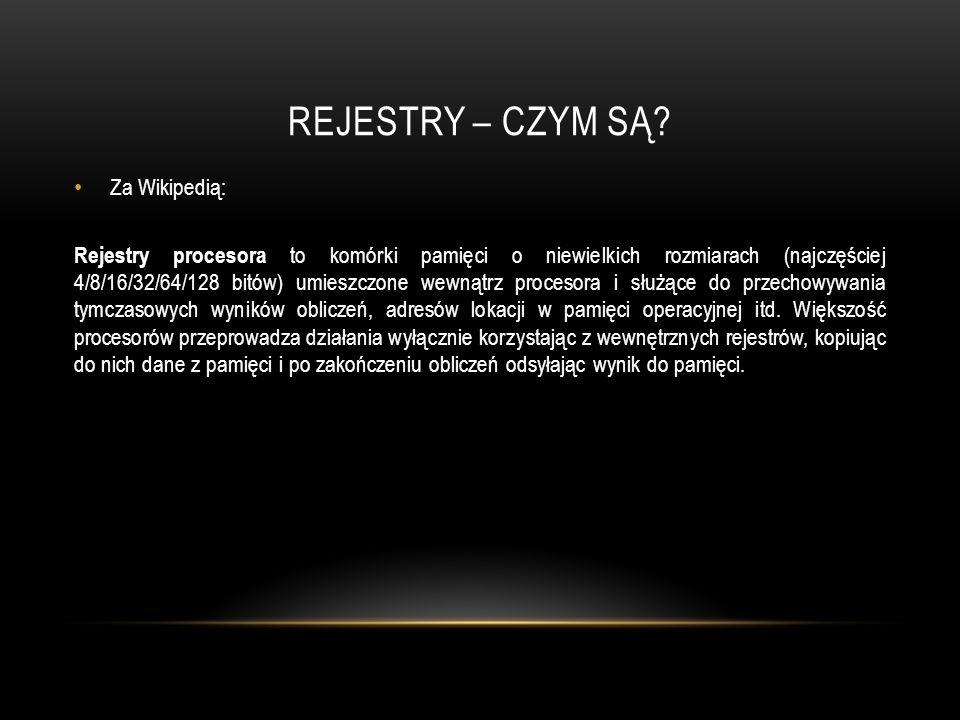 REJESTRY – CZYM SĄ Za Wikipedią: