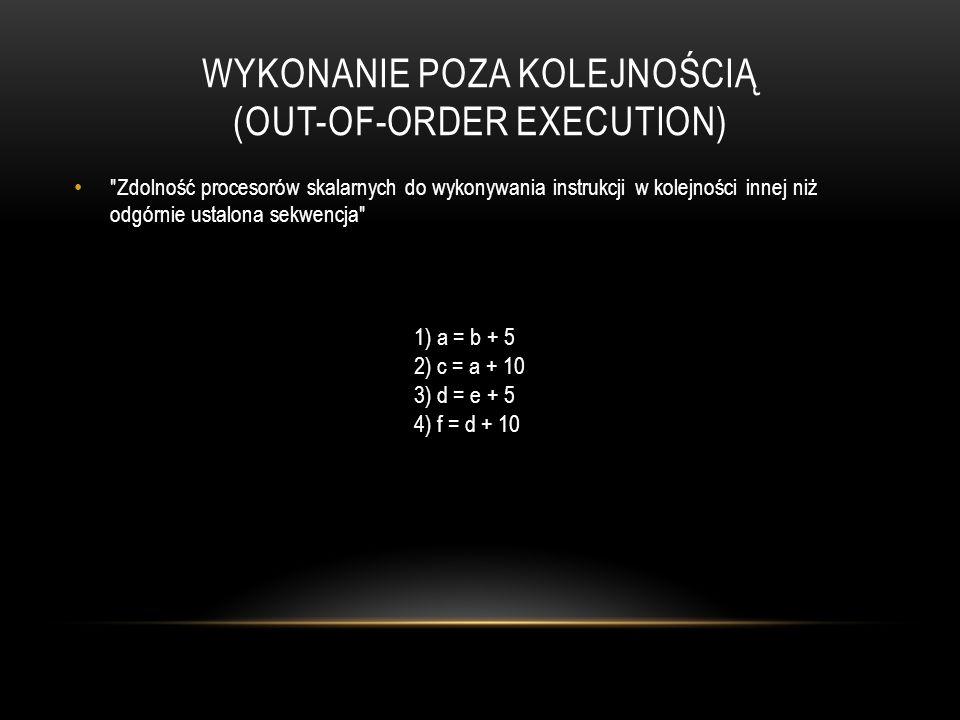 Wykonanie poza kolejnością (OUT-OF-ORDER EXECUTION)