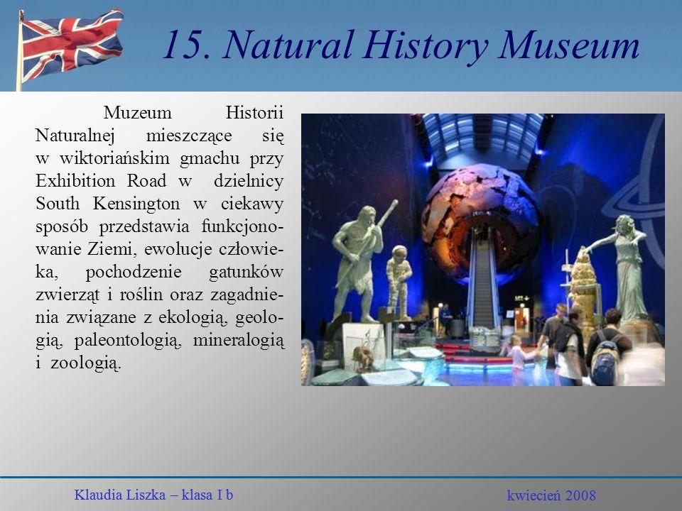 15. Natural History Museum
