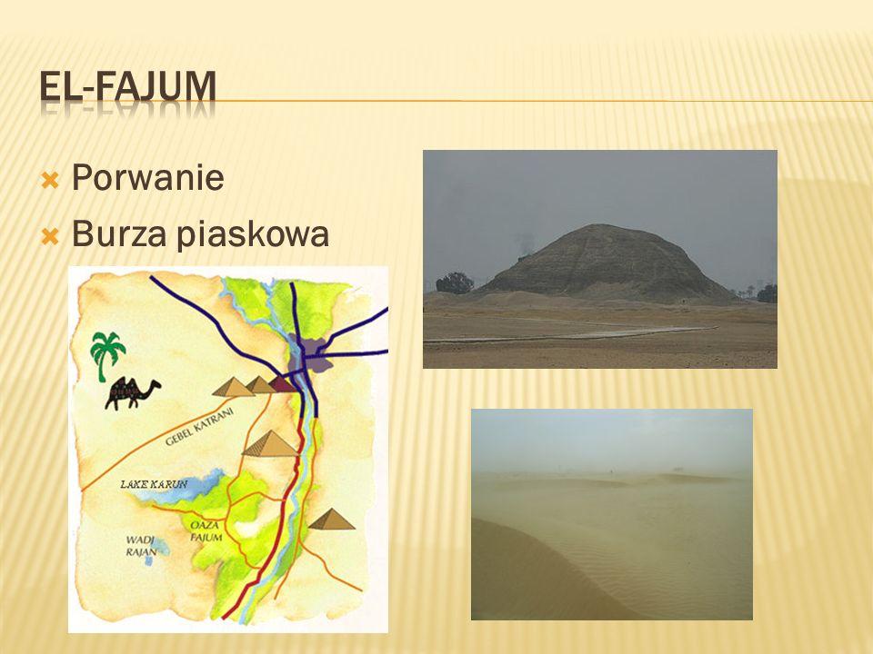 EL-FAJUM Porwanie Burza piaskowa
