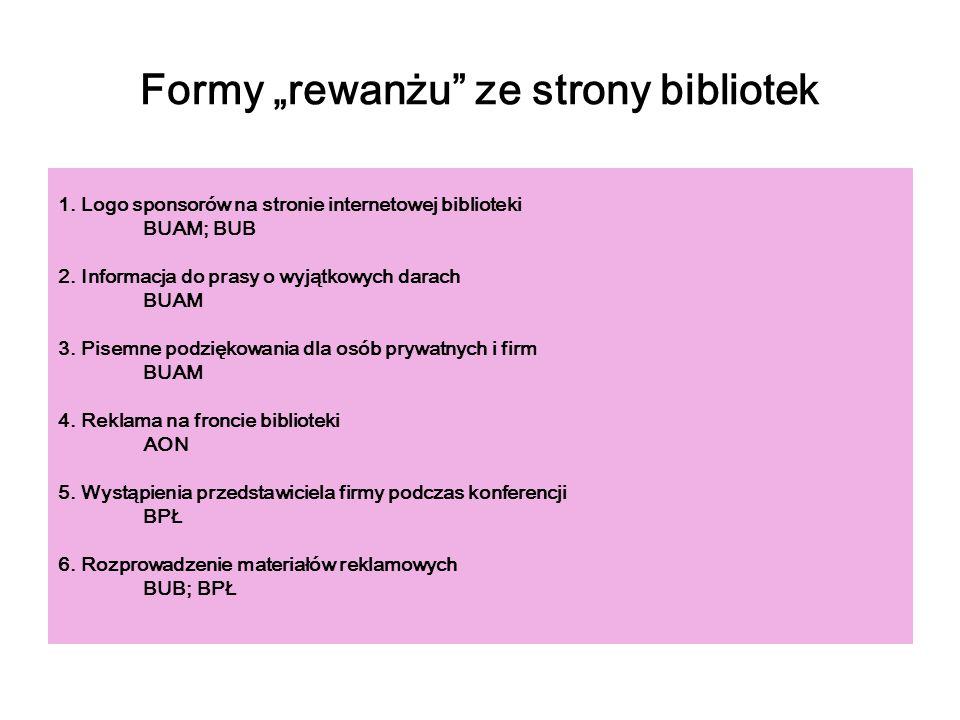 """Formy """"rewanżu ze strony bibliotek"""