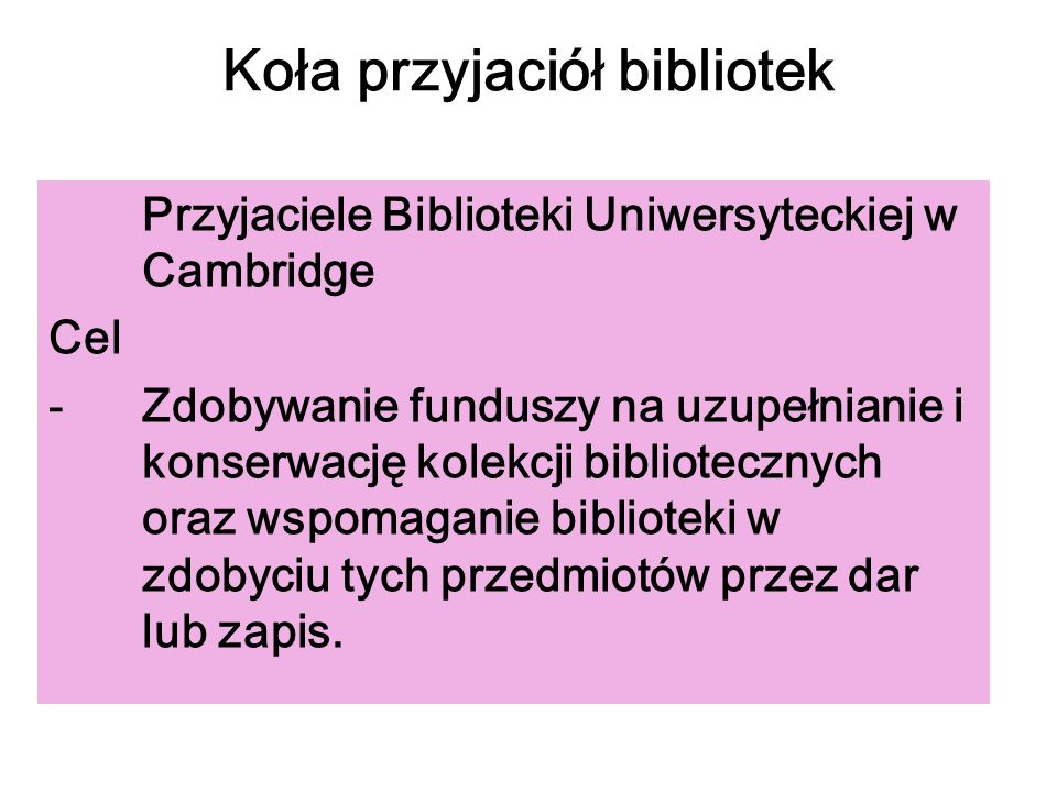 Koła przyjaciół bibliotek