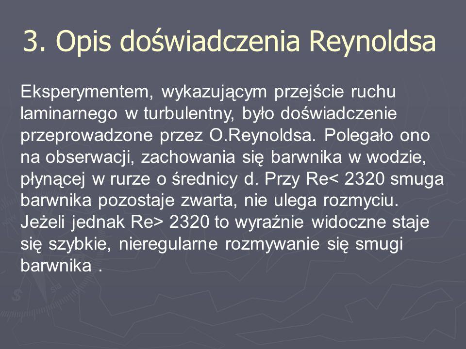 3. Opis doświadczenia Reynoldsa