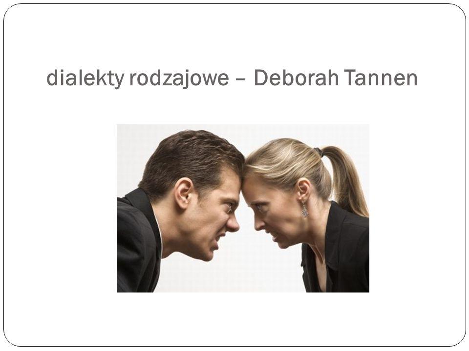 dialekty rodzajowe – Deborah Tannen