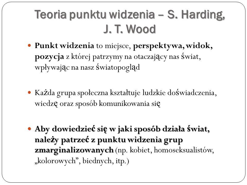 Teoria punktu widzenia – S. Harding, J. T. Wood