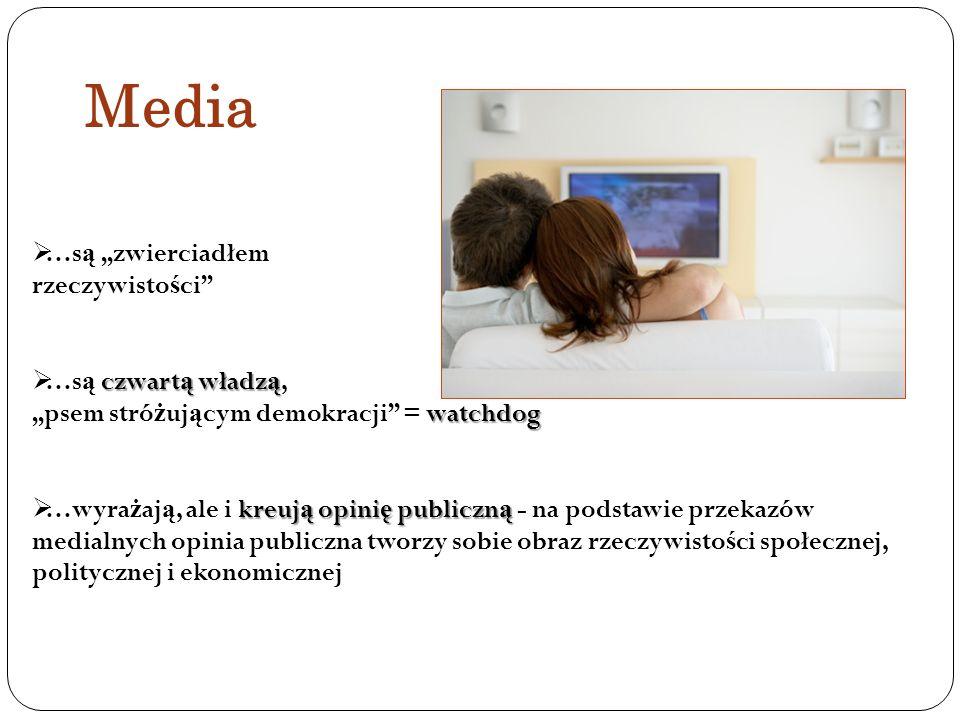 """Media …są """"zwierciadłem rzeczywistości …są czwartą władzą,"""