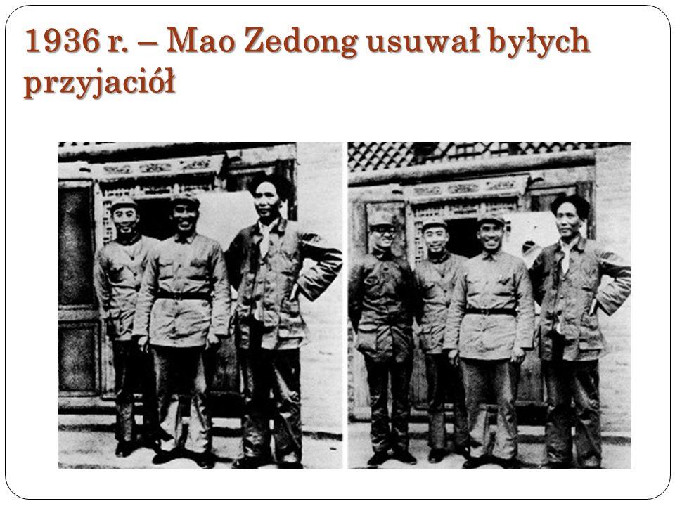 1936 r. – Mao Zedong usuwał byłych przyjaciół
