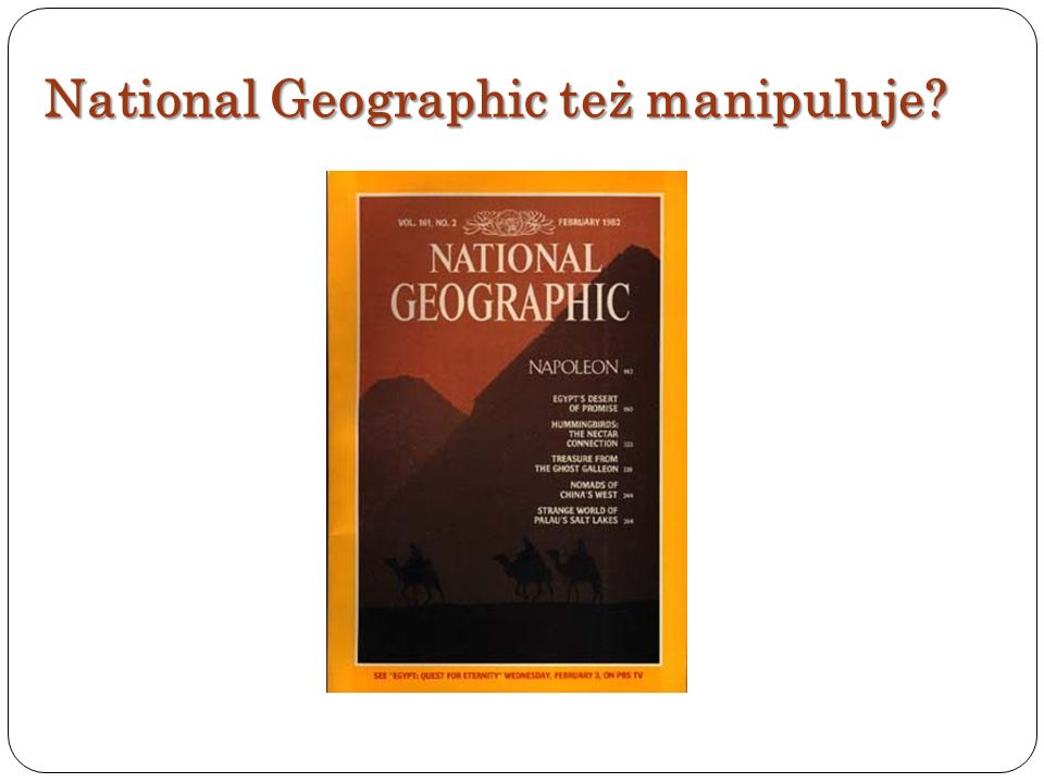 National Geographic też manipuluje