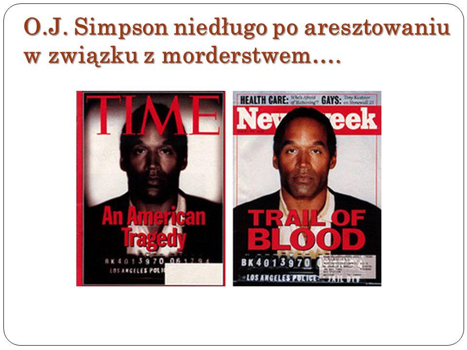 O.J. Simpson niedługo po aresztowaniu w związku z morderstwem….