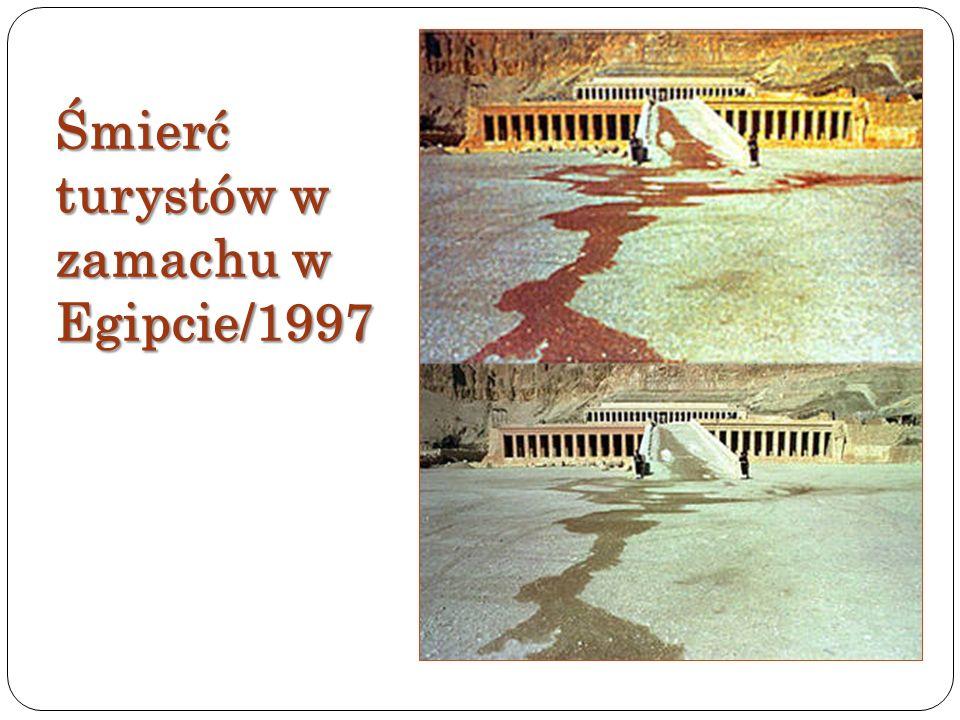 Śmierć turystów w zamachu w Egipcie/1997