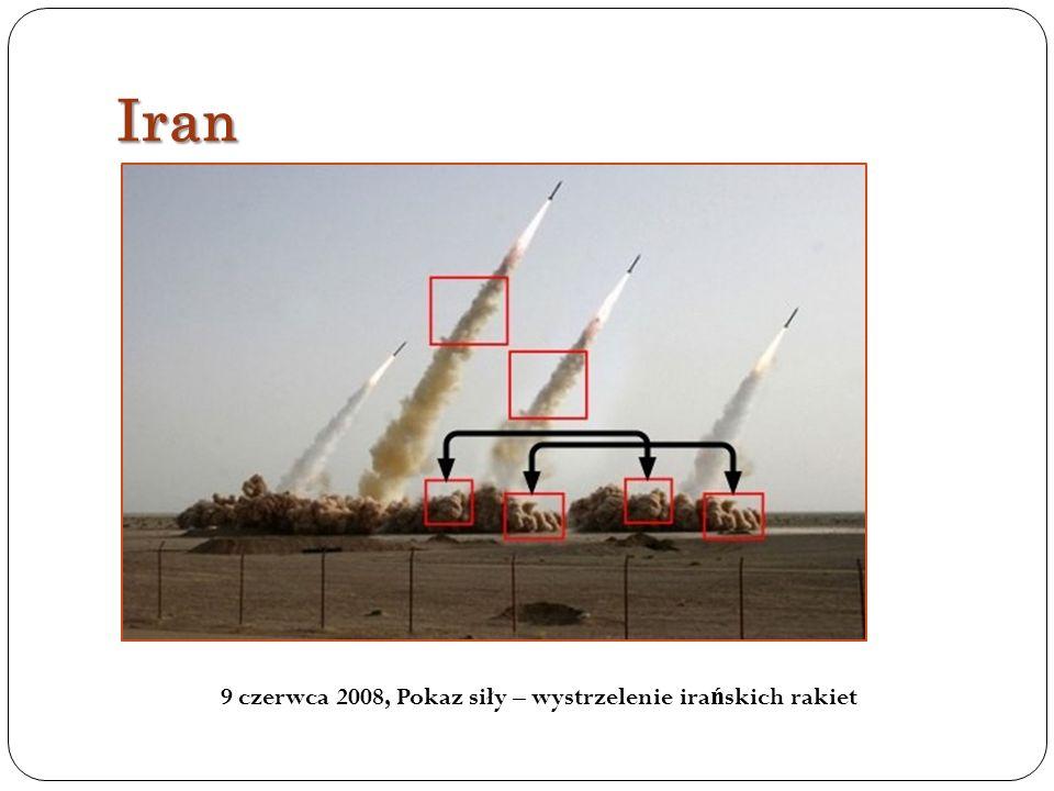 9 czerwca 2008, Pokaz siły – wystrzelenie irańskich rakiet