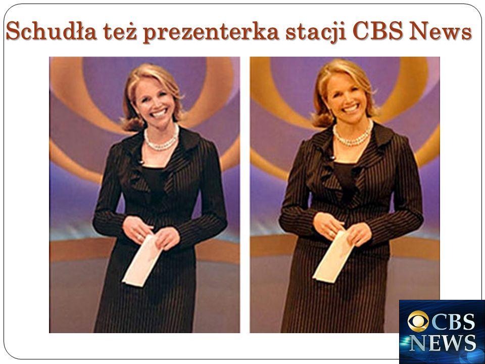 Schudła też prezenterka stacji CBS News