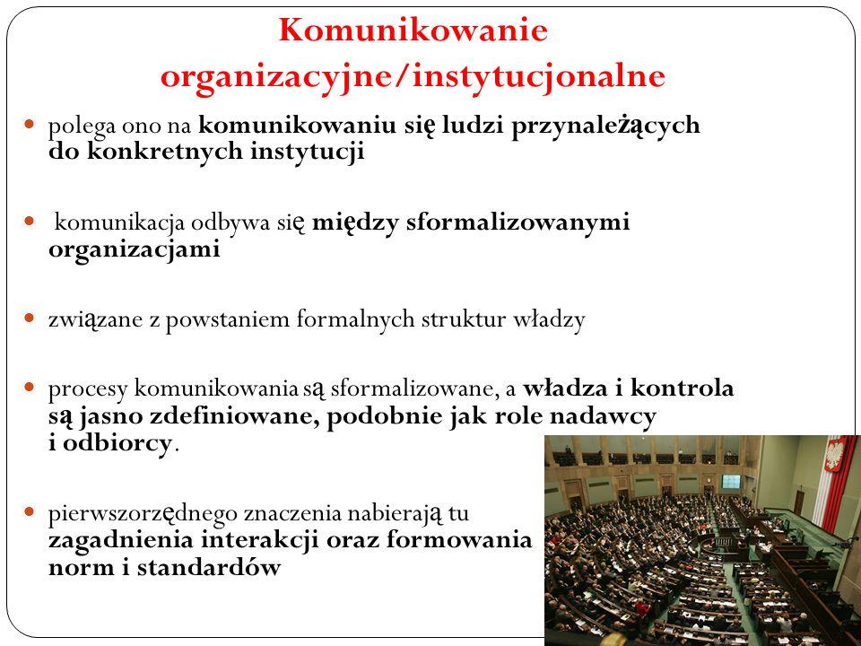 Komunikowanie organizacyjne/instytucjonalne