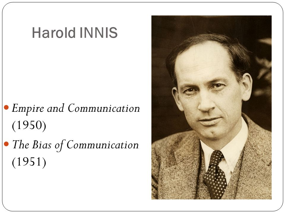 Harold INNIS Empire and Communication (1950)