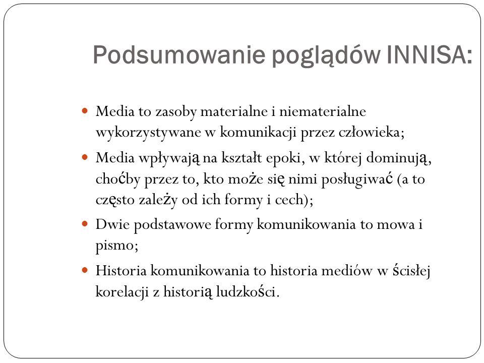 Podsumowanie poglądów INNISA: