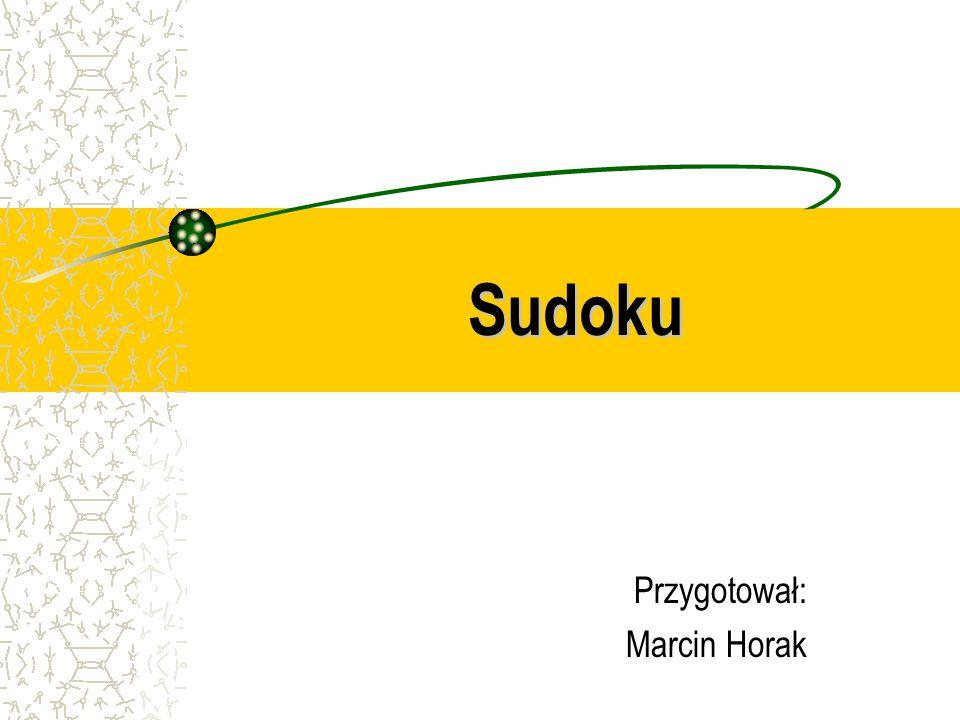 Przygotował: Marcin Horak