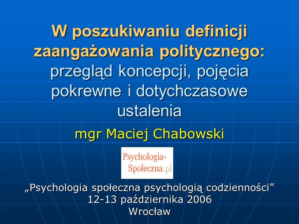 """""""Psychologia społeczna psychologią codzienności"""