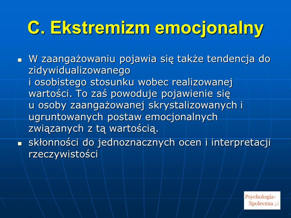 C. Ekstremizm emocjonalny
