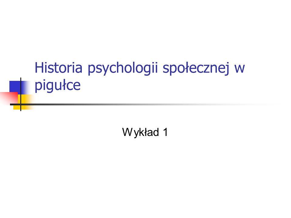 Historia psychologii społecznej w pigułce