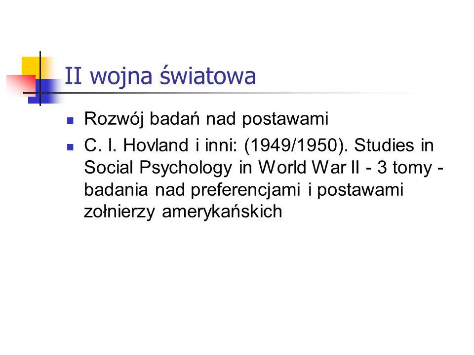 II wojna światowa Rozwój badań nad postawami