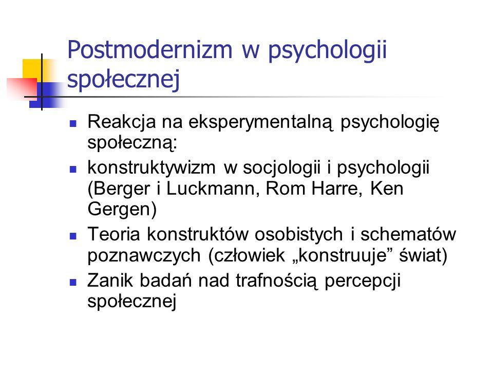 Postmodernizm w psychologii społecznej