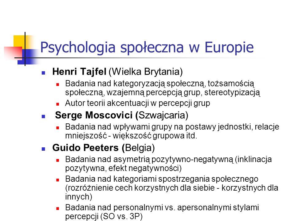 Psychologia społeczna w Europie