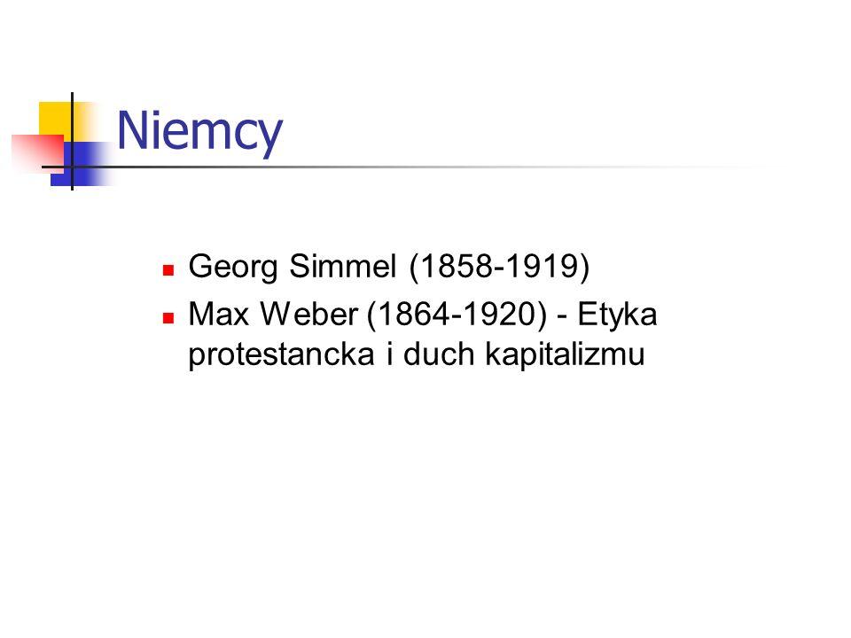 Niemcy Georg Simmel (1858-1919)
