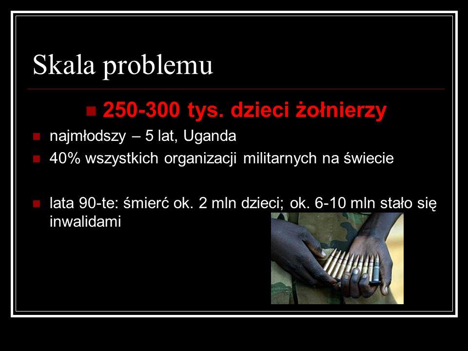 Skala problemu 250-300 tys. dzieci żołnierzy