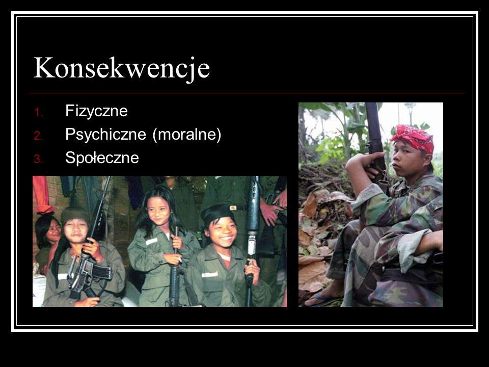 Konsekwencje Fizyczne Psychiczne (moralne) Społeczne