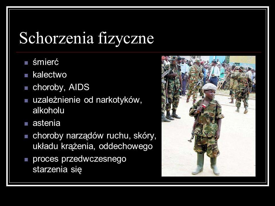 Schorzenia fizyczne śmierć kalectwo choroby, AIDS