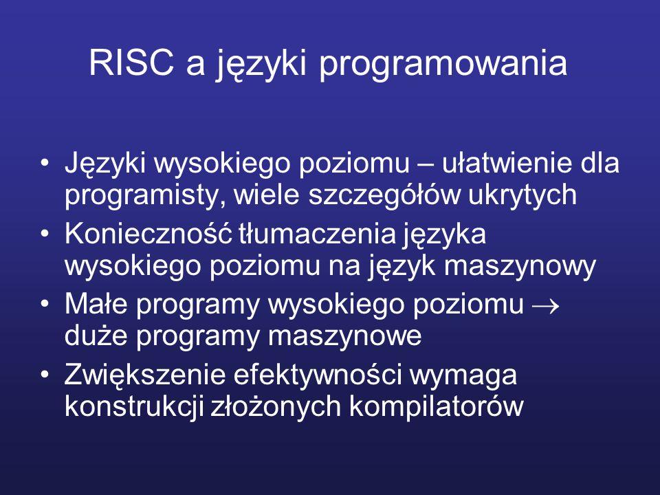 RISC a języki programowania