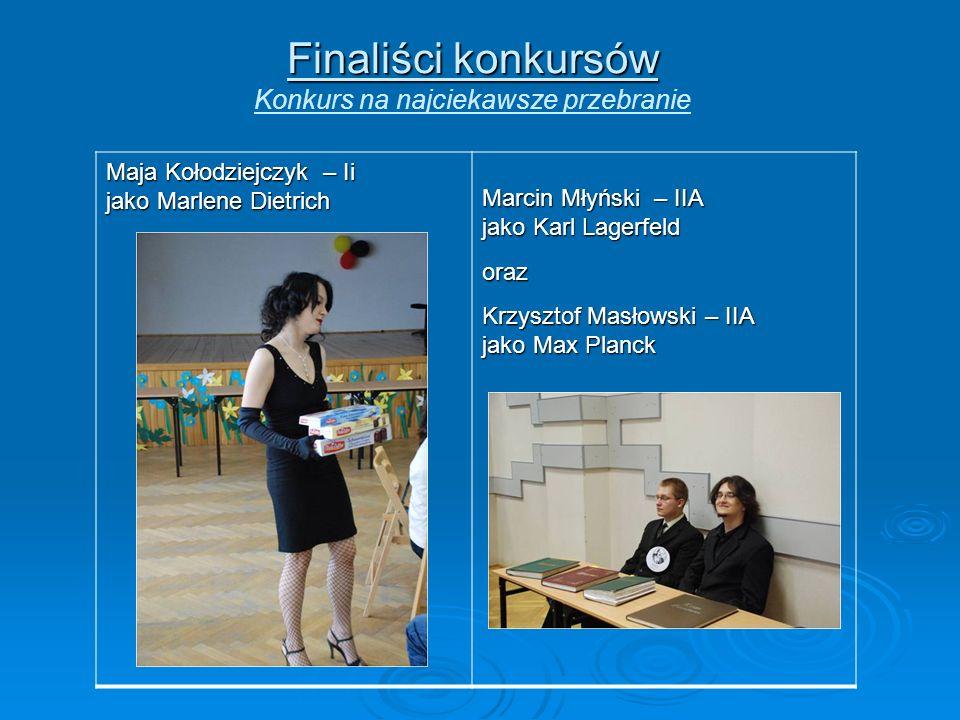 Finaliści konkursów Konkurs na najciekawsze przebranie