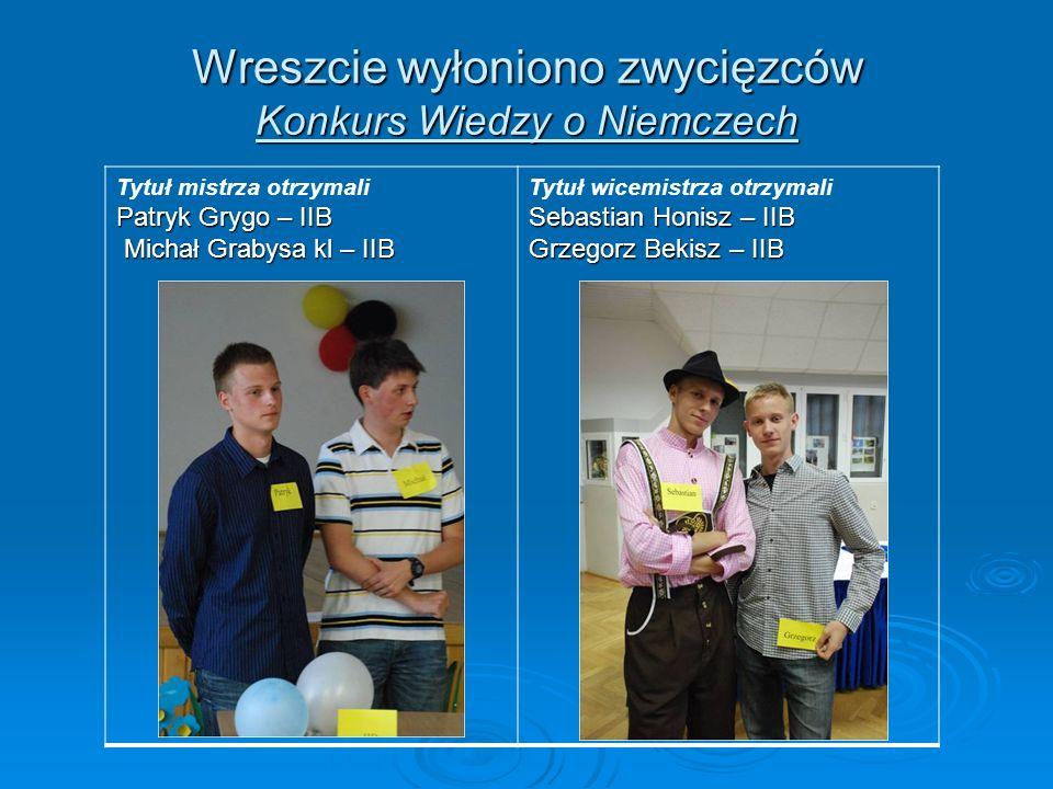 Wreszcie wyłoniono zwycięzców Konkurs Wiedzy o Niemczech