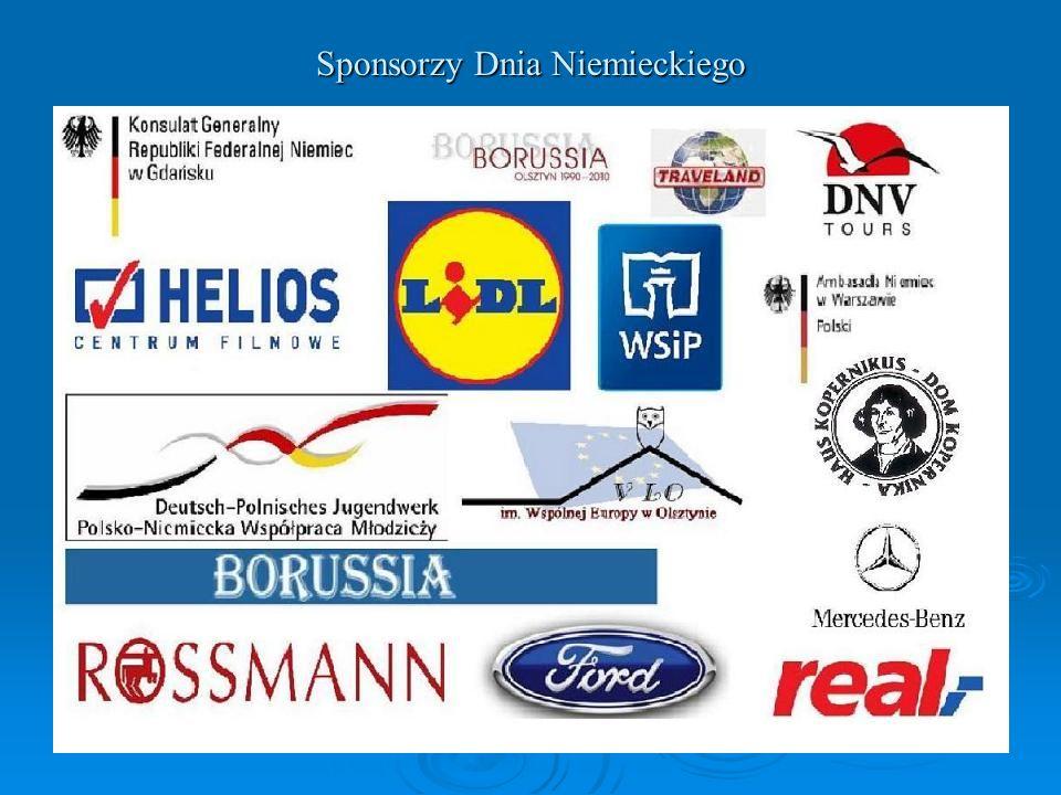 Sponsorzy Dnia Niemieckiego